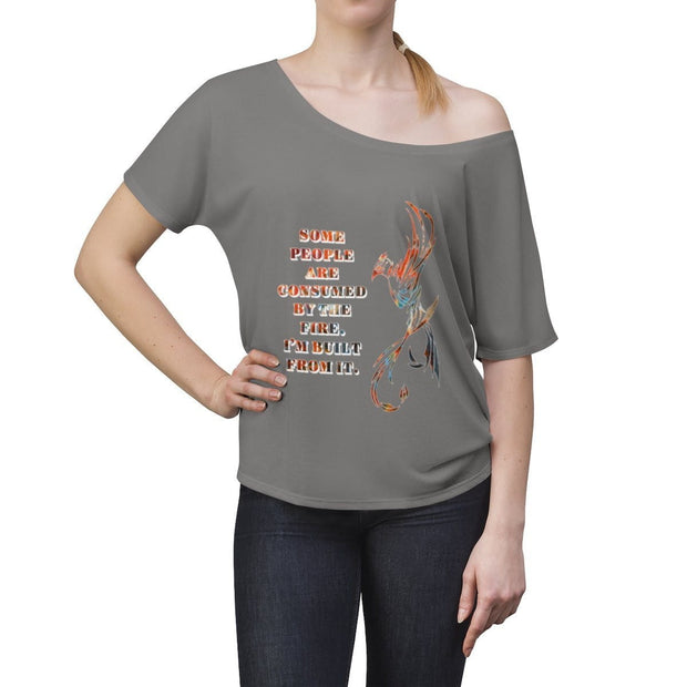 Built From Fire - Women's Slouchy top - Fiercely Fem