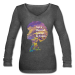 Diamond - Women's Long Sleeve  V-Neck Flowy Tee - deep heather