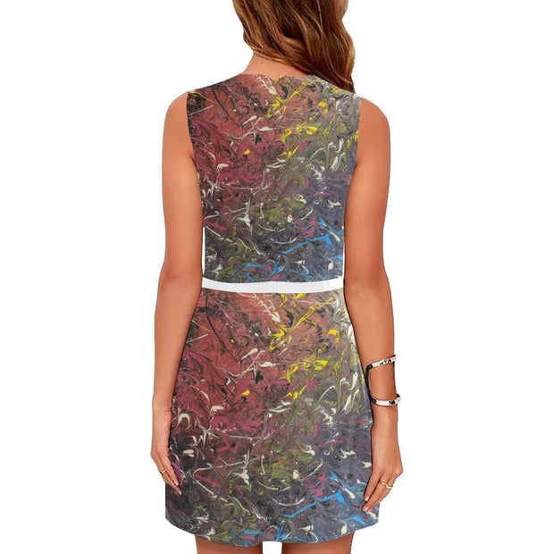 Mood Splash - Sleeveless Dress - Fiercely Fem
