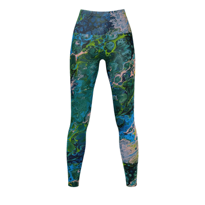 Blue Lagoon - Recycled Poly Leggings