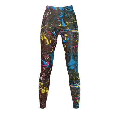 Jazz Splash - Recycled Poly Leggings - Fiercely Fem