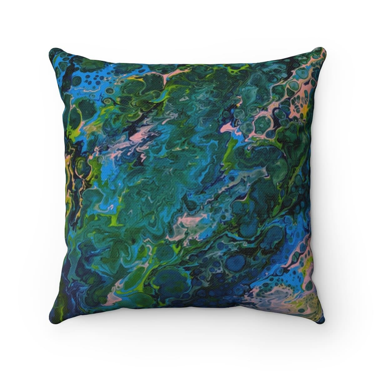 Blue Lagoon - Spun Polyester Square Pillow