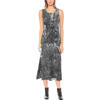 Fiercely Shades of Gray - Sleeveless Open Fork Dress - Fiercely Fem