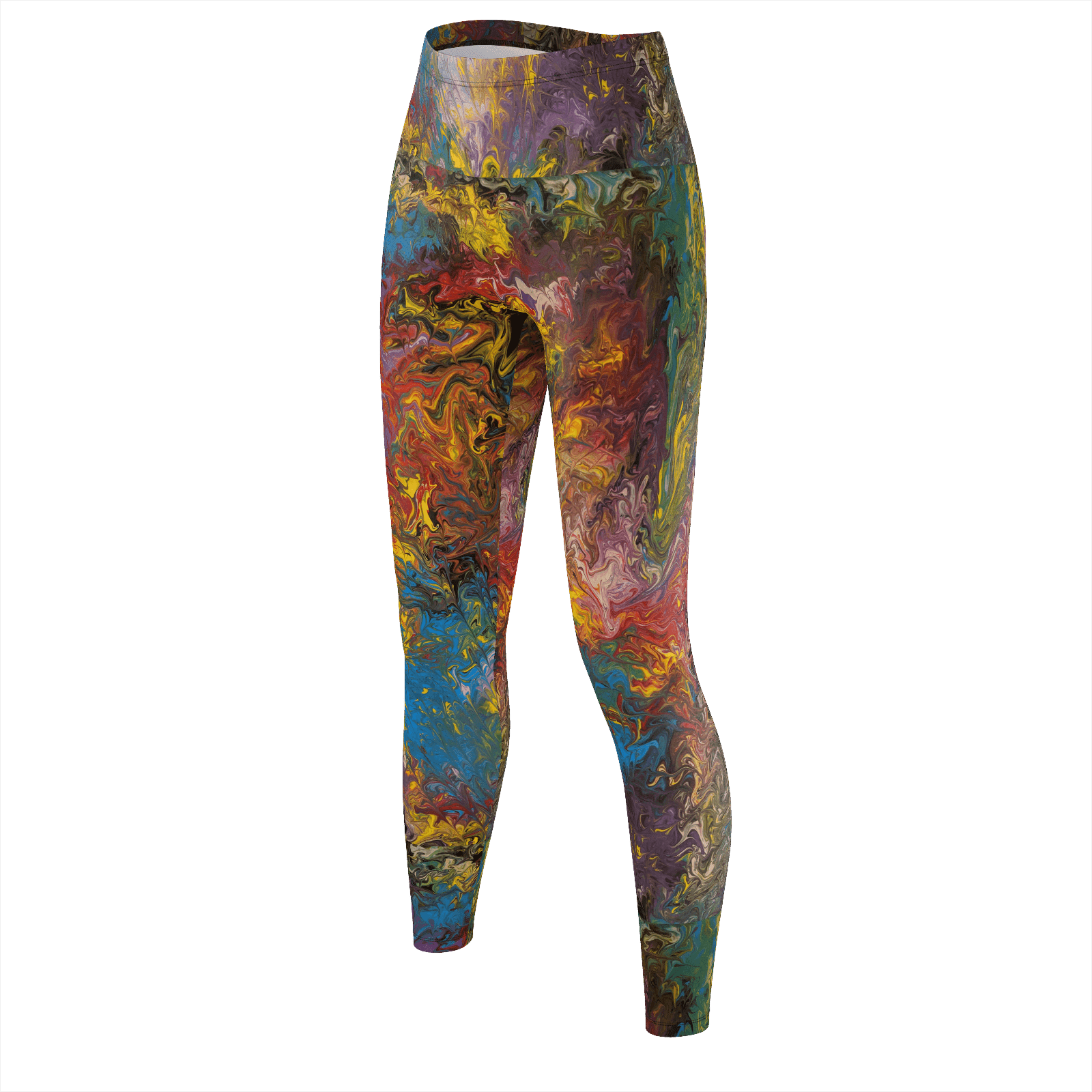 Rendezvous of Color - Recycled Poly Leggings - Fiercely Fem