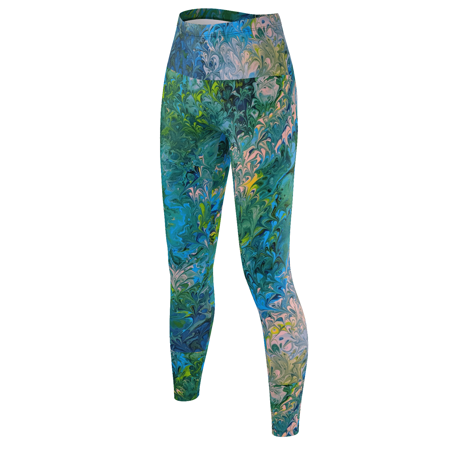Rhapsody in Blue - Recycled Poly Leggings