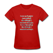 No Longer - Women's Basic Tee - red