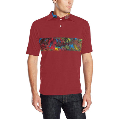 Pride Inspired Colorblock - Men's Polo Shirt (Various Color Options) - Fiercely Fem
