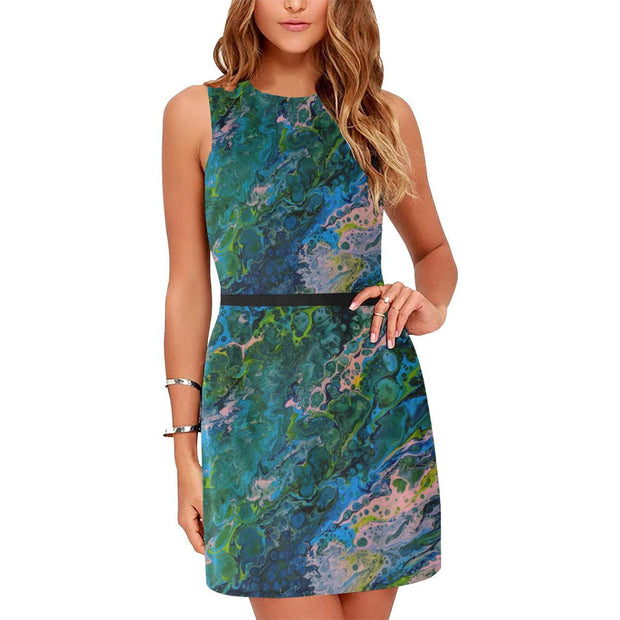 Blue Lagoon - Sleeveless Dress - Fiercely Fem
