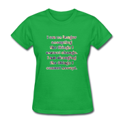 No Longer - Women's Basic Tee - bright green