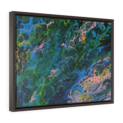Blue Lagoon - Horizontal Framed Premium Gallery Wrap Canvas - Fiercely Fem