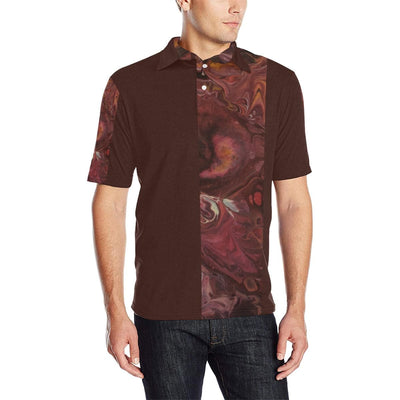 Scarlet Vibes - Men's Polo Shirt