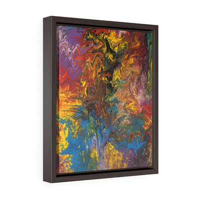Rendezvous of Color - Vertical Framed Premium Gallery Wrap Canvas - Fiercely Fem