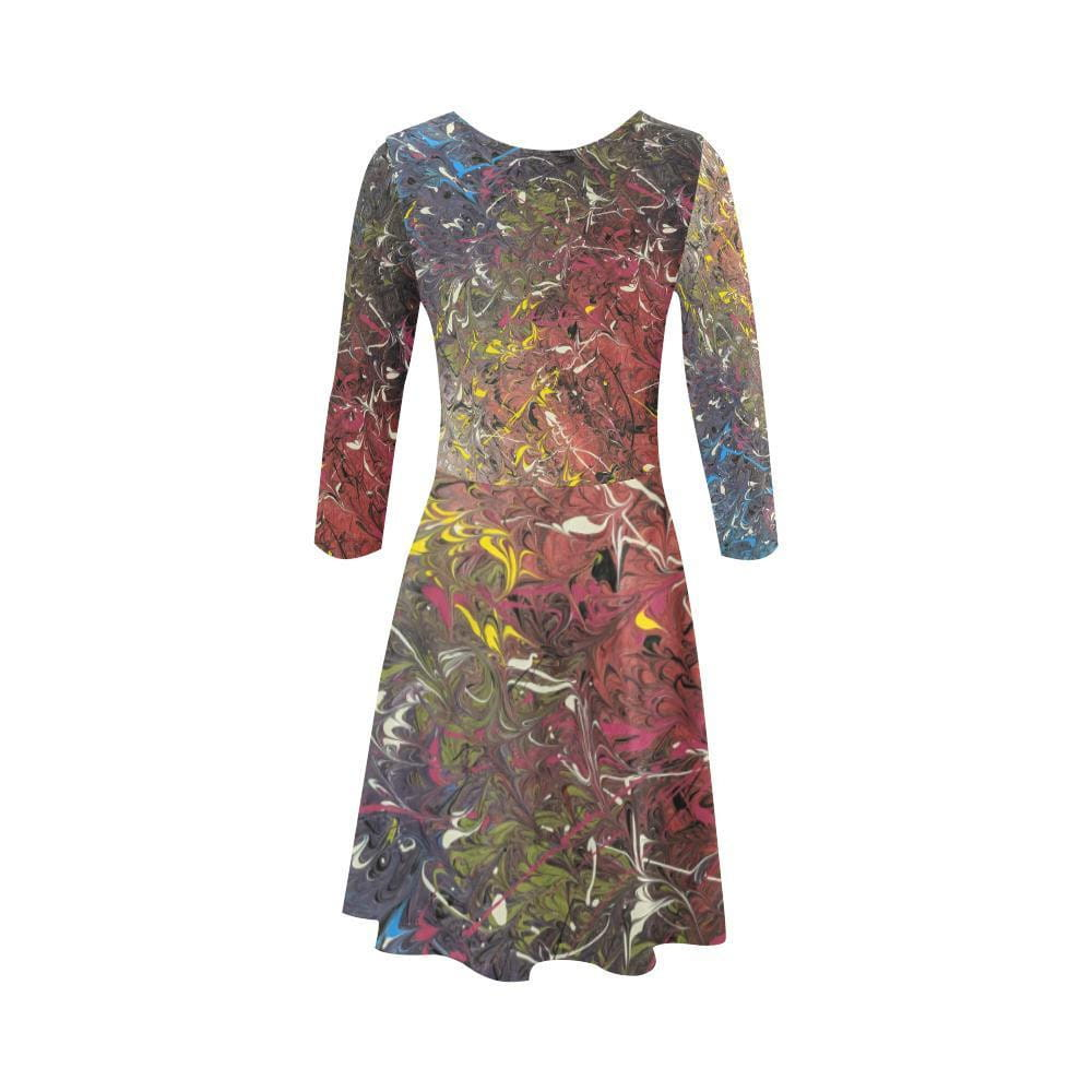 Mood Splash - 3/4 Sleeve Sundress - Fiercely Fem