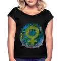 Mother Earth - Women's Roll Cuff Tee - Fiercely Fem