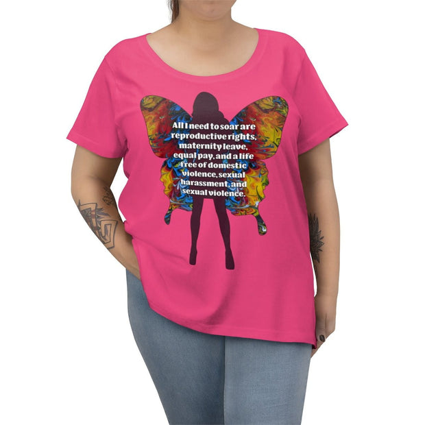 All I Need - Women's Curvy Tee (Charity Collection) - Fiercely Fem