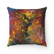 Rendezvous of Color - Spun Polyester Square Pillow - Fiercely Fem