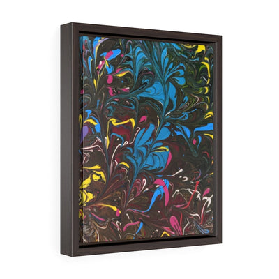 Jazz Splash - Vertical Framed Premium Gallery Wrap Canvas - Fiercely Fem