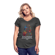 Courage - Women's Tri-Blend V-Neck Tee - Fiercely Fem