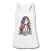 Courage - Women's Flowy Tank Top by Bella - Fiercely Fem