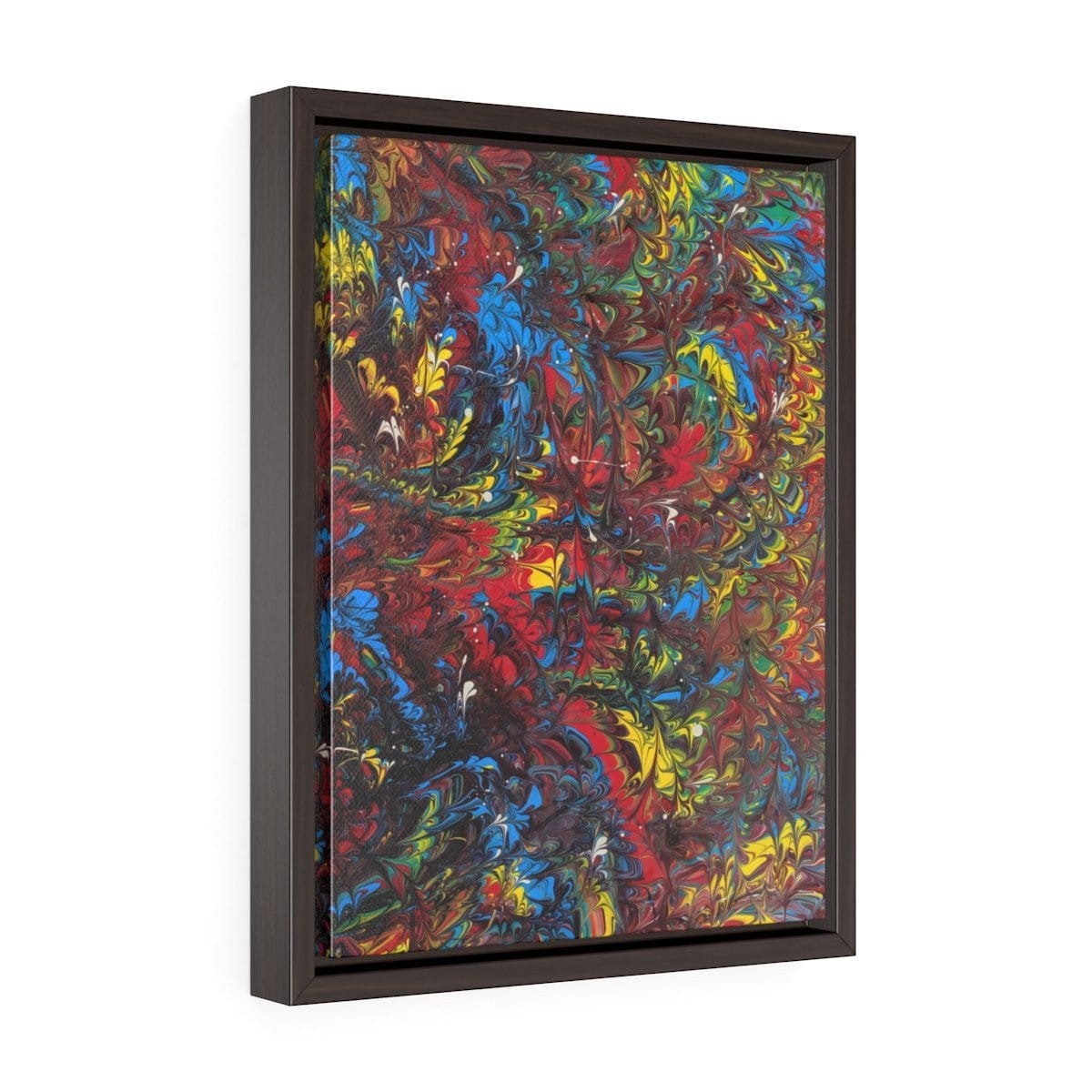 Pride Inspired - Vertical Framed Premium Gallery Wrap Canvas - Fiercely Fem