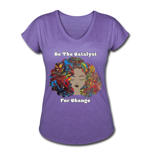 Catalyst - Women's Tri-Blend V-Neck Tee - Fiercely Fem