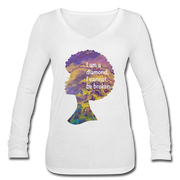 Diamond - Women's Long Sleeve  V-Neck Flowy Tee - white