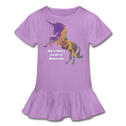 Tribe - Girl's Ruffle Tee - lavender