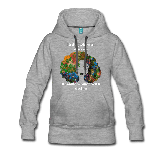Dreamer to Visionary - Women's Premium Hoodie - Fiercely Fem