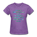 Worth - Women's Basic Tee - purple heather
