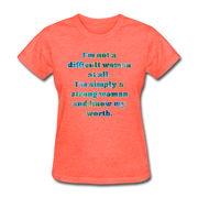Worth - Women's Basic Tee - heather coral