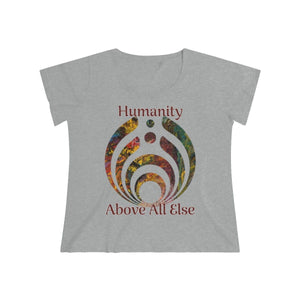 Humanity - Women's Curvy Tee (Charity Collection) - Fiercely Fem