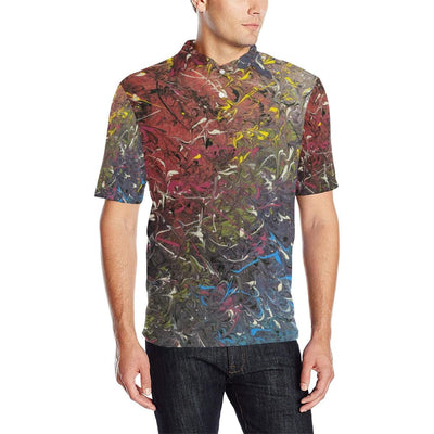 Mood Splash - Men's Polo Shirt - Fiercely Fem