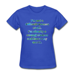 Worth - Women's Basic Tee - royal blue