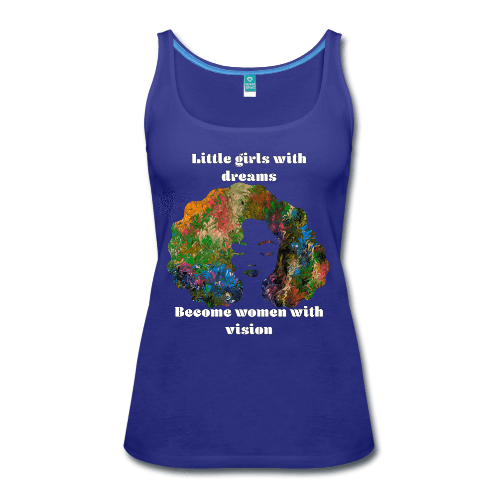Dreamer to Visionary - Women's Premium Tank Top - Fiercely Fem