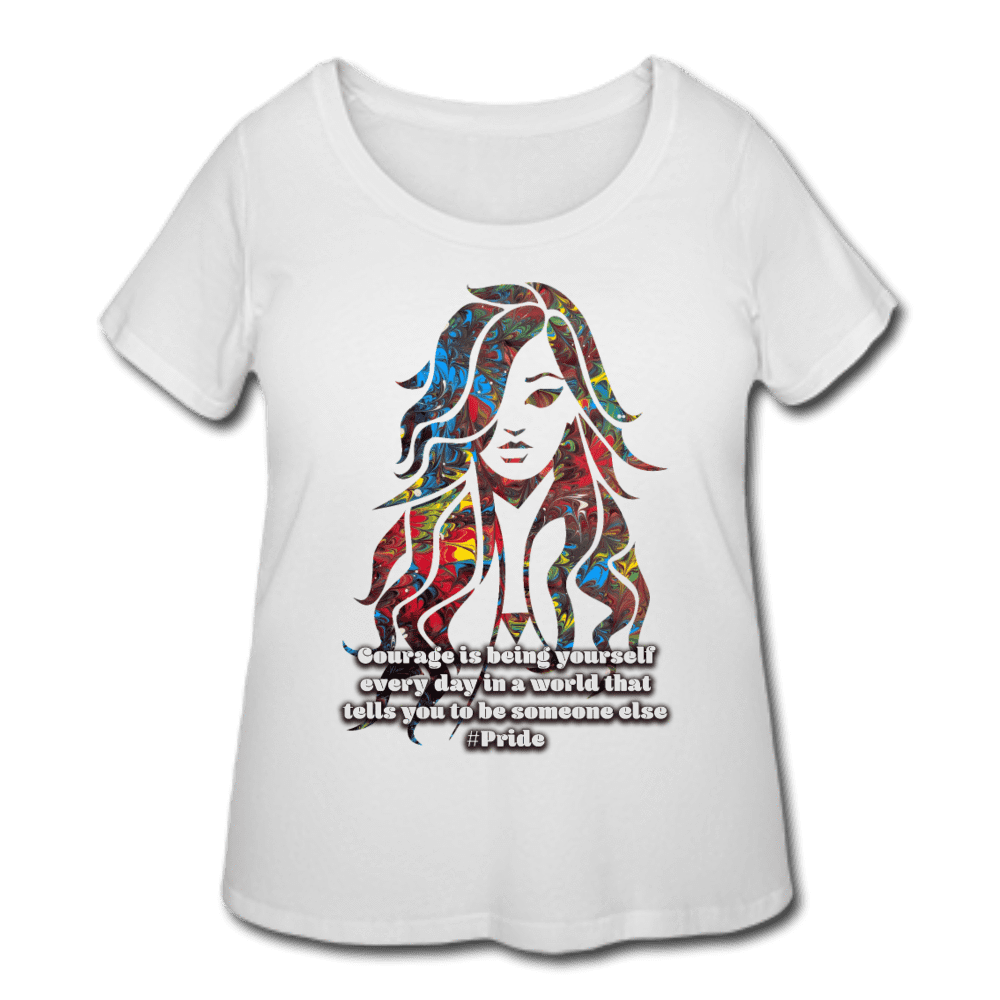Courage Women's Curvy Tee - Fiercely Fem
