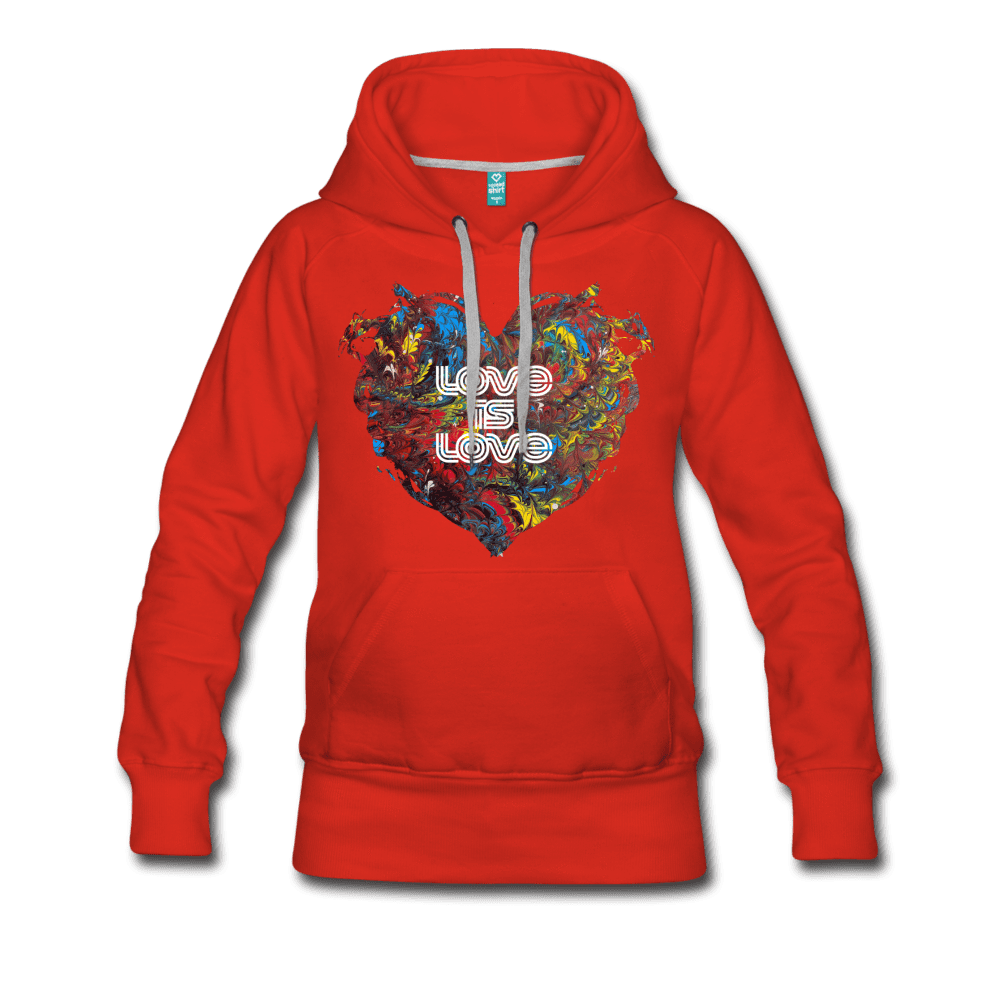 Love is Love - Women's Premium Hoodie - Fiercely Fem