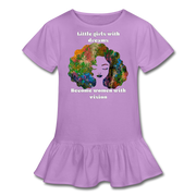 Dreamer to Visionary - Girl's Ruffle Tee - lavender
