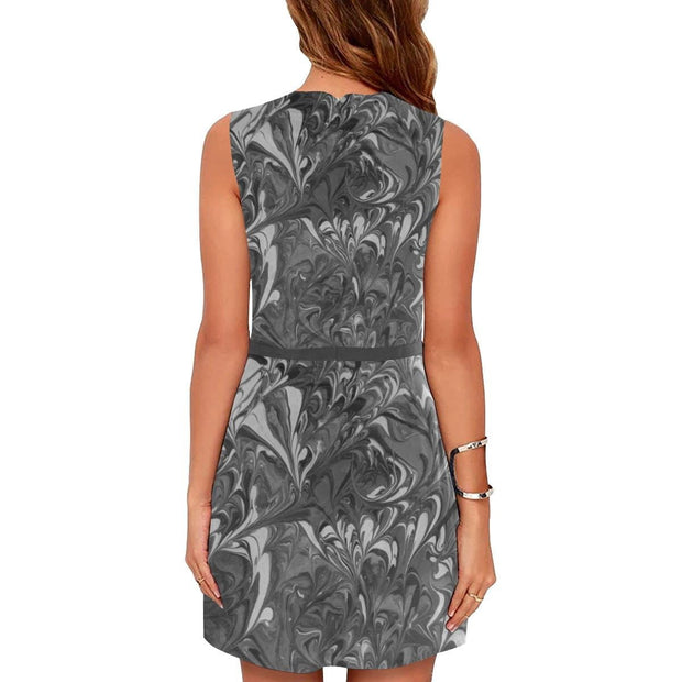 Fiercely Shades of Gray - Sleeveless Dress - Fiercely Fem