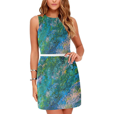 Rhapsody in Blue - Sleeveless Dress - Fiercely Fem