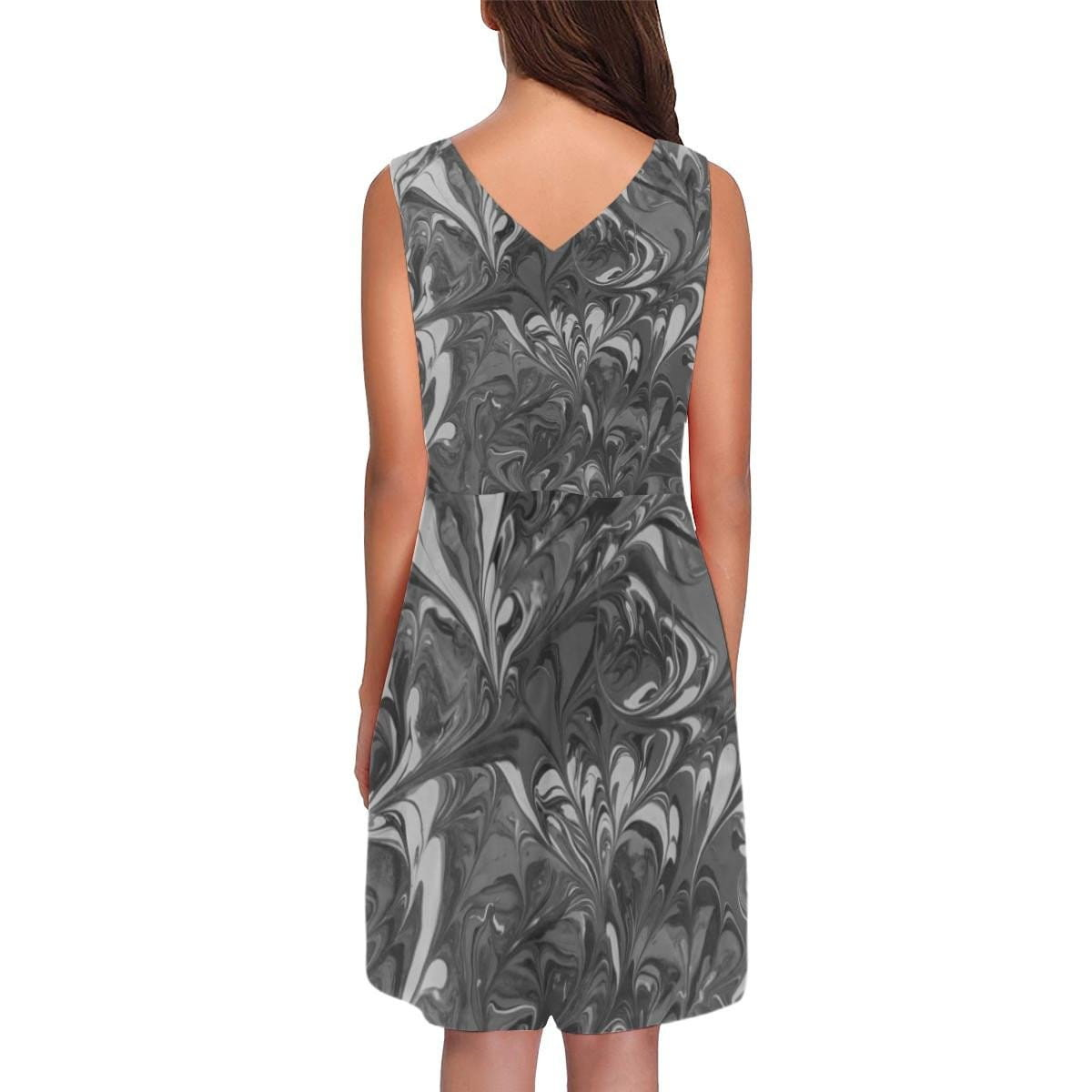 Fiercely Shades of Gray - Sleeveless Pleated Dress - Fiercely Fem