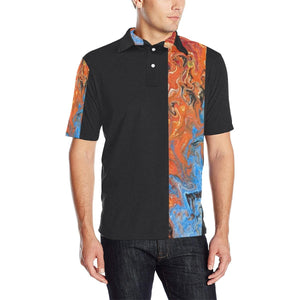 Fire & Water - Men's Polo Shirt