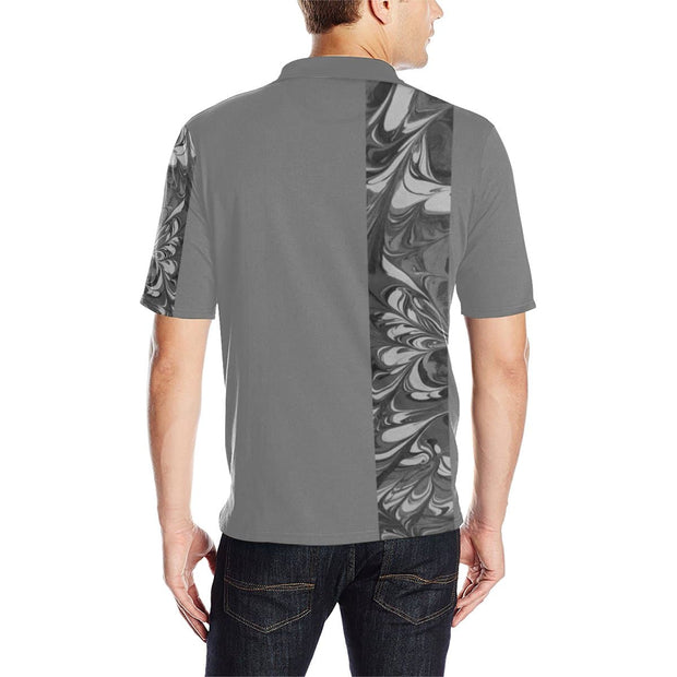 Fiercely Shades of Gray - Men's Polo Shirt