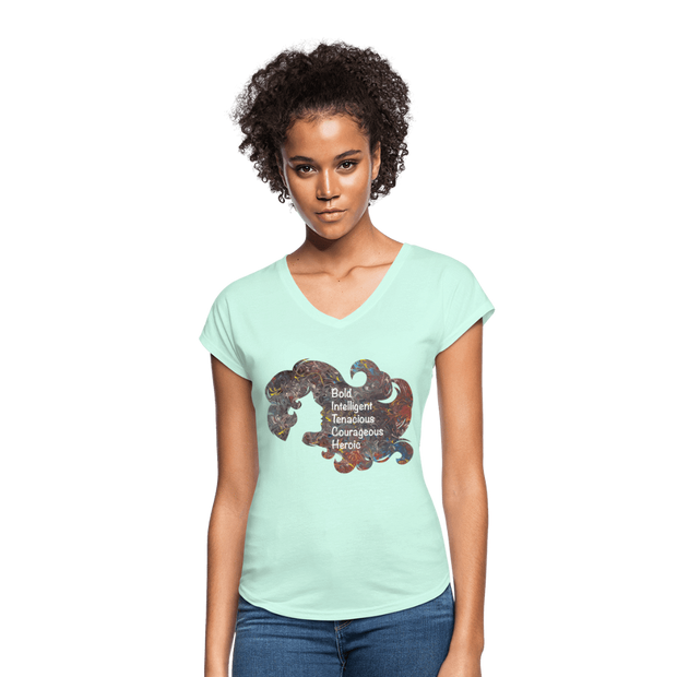 B.I.T.C.H. - Women's Tri-Blend V-Neck T-Shirt - Fiercely Fem