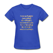 No Longer - Women's Basic Tee - royal blue