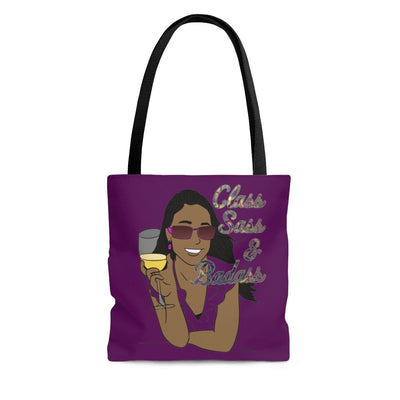 Class, Sass & Badass - Tote Bag (Deep Purple) - Fiercely Fem