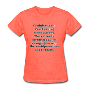 Feminism - Women's Basic Tee - heather coral