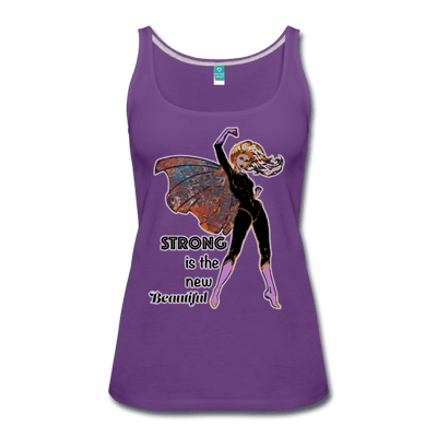 Strong - Women's Premium Tank Top - Fiercely Fem