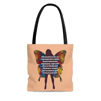 All I Need - Tote Bag (Peach) - Fiercely Fem