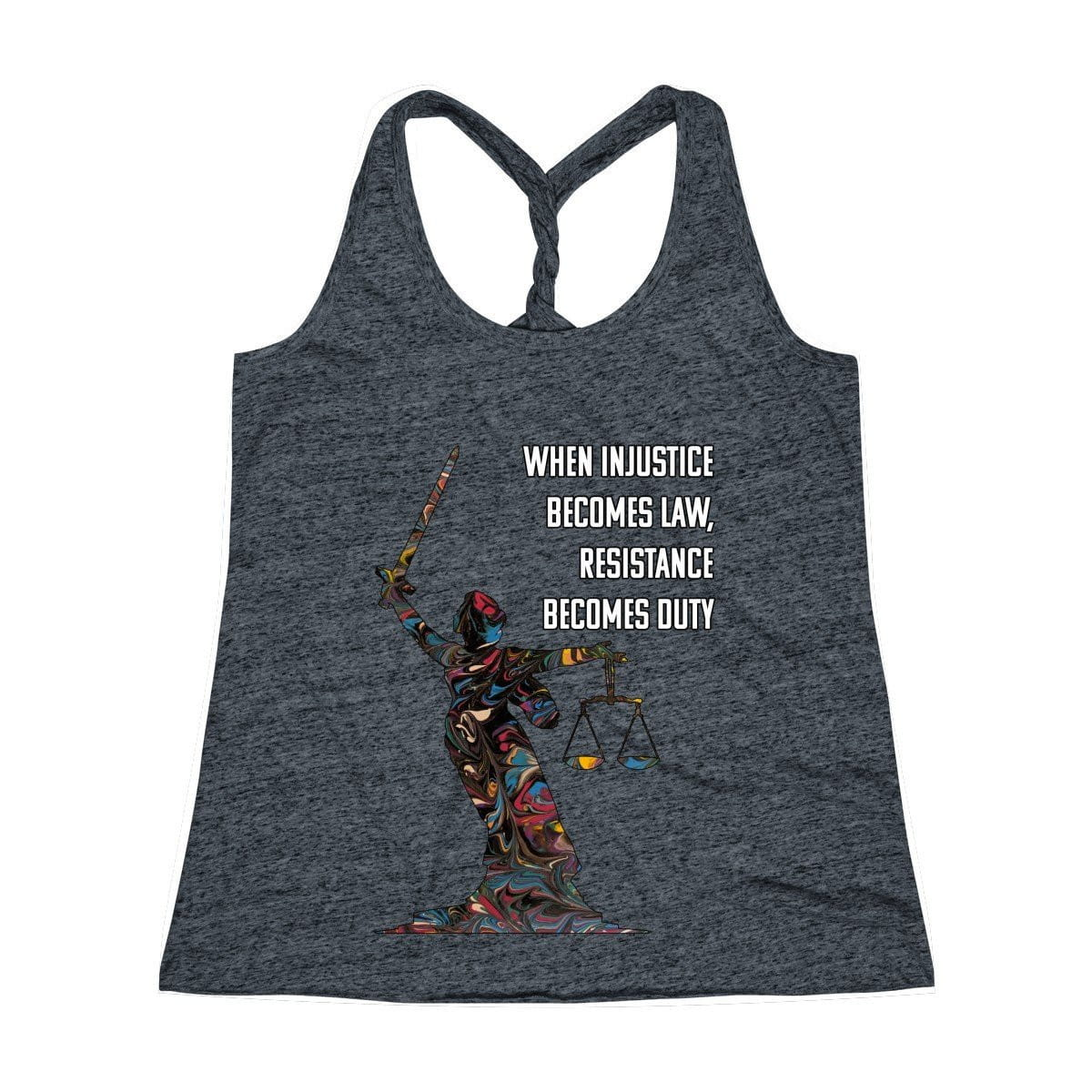 Duty - Women's Cosmic Twist Back Tank Top - Fiercely Fem