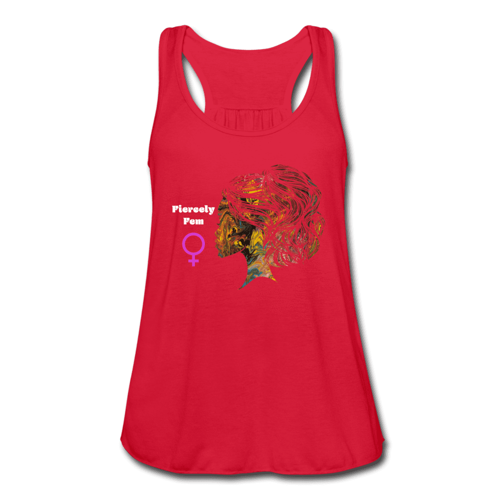 Fiercely Fem Women's Flowy Tank Top by Bella - Fiercely Fem